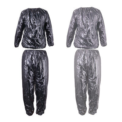 Sauna Suit Sweat Exercise Gym Fitness Weight Loss Fat Burn Training Slimming