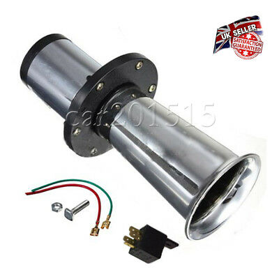 110dB 12V Silvery Large Chrome Antique Style Classic Car Klaxon Horn UK