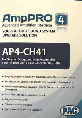 PAC AmpPRO AP4-CH41 Amplifier Replacement Interface