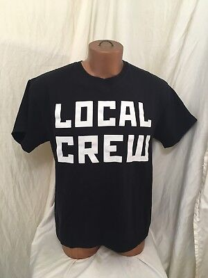 Rammstein Local Crew Made In Germany Concert Tour Shirt Two Sided Black Large L