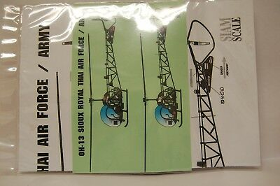 Siam Scale 1/72 Scale Oh-13 Sioux Royal Thai Air Force/army Helicopter Decals