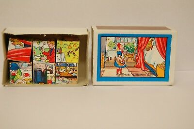 Vintage Wooden Puzzle In A Matchbox Made In Western Germany