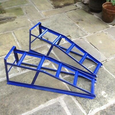 2 Ton Car Ramps in blue