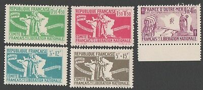 France. Committee of National Liberation. 1943 Refugee Aid. MNH