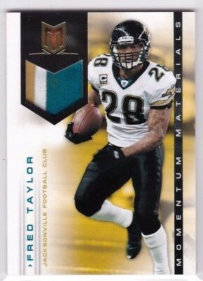 Fred Taylor Jacksonville Jaguars 2012 Momentum Materials Game Jersey Patch /49