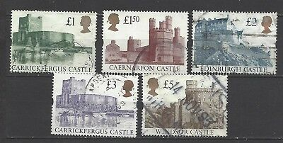 British stamps collection of Castles full set gold heads new style GB