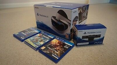 Sony PlayStation VR Bundle, PS VR Camera, 3 Games, Like New! PSVR!