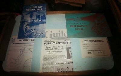 1959 Fisher Body Craftsmans Guild Design & Build a Model Car complete w envelope