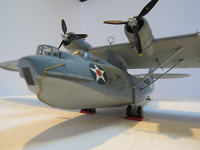 1/48th Scale PBY-5A USN Amphibian - Monogram - Pearl Harbor Livery BUILT KIT
