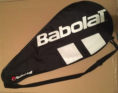 Babolat Tennis Racket Case Cover Holds 1 Racket Zip Up Quilt Lined