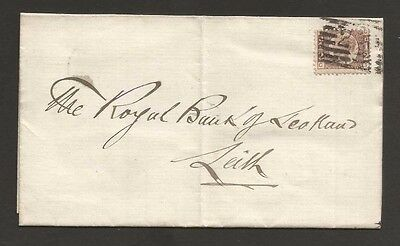 NOV 001 Great Britain - Victoria 1/2d Leith Bank of Scotland 1878 Lybster