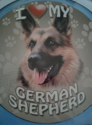 "I Love My German Shepherd DOG Magnet 5.75"" round Auto Truck Fridge NEW IN PKG"
