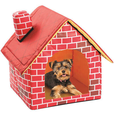 Pet Igloo Dog Cat Bed House Small Animal Kennel Detachable