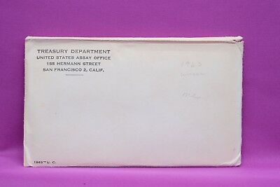 1963 U.S. 10 Coin Mint Set Uncirculated set P and D in envelope