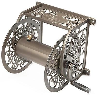 Liberty Garden Brown, Decorative Wall Mounted Hose Reel 705
