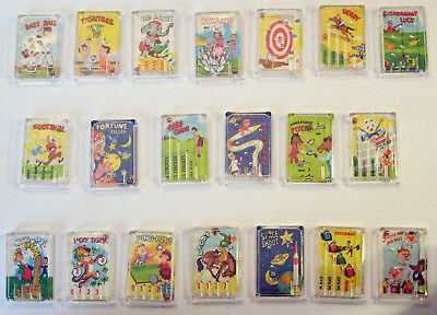Set of 20 Vintage Cracker Jack pinball games