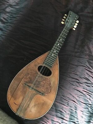 Vega Mandolin w/case for parts or repair Luthier project