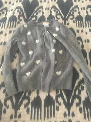 Crewcuts Cardigan Wool Sequin Hearts Size 4 5