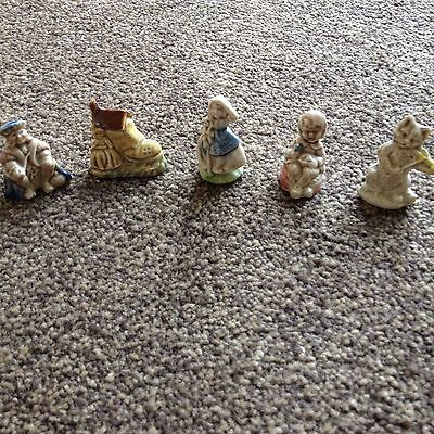 Five Wade Whimsie Nursery Rhyme Figures