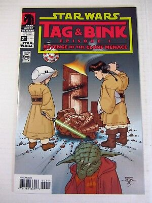 Star Wars Tag and Bink #2 Ep I Revenge of the Clone Menace Humor Comic Solid NM