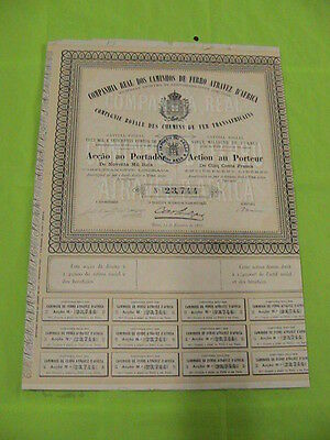 Royal Company of Railways through Africa 1886 - one share certified