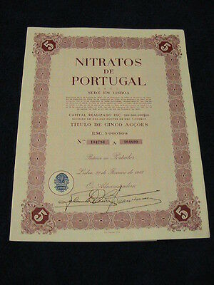 Nitrates from Portugal - Five share certified 1967