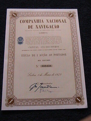 national company the navigation - One share the holder certified 1973