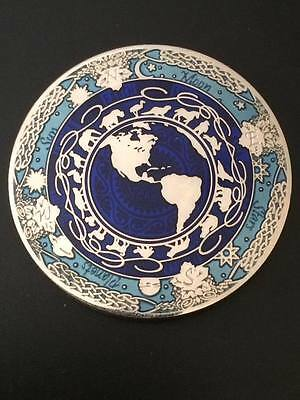 BLUE IS MY WORLD  - TRANQUILITY geocoin NOT ACTIVATED !!! VERY RARE !!!!!!