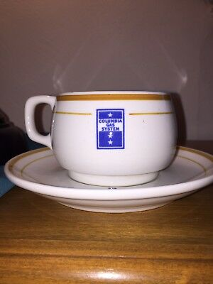 Mid Century Columbia Gas System   Coffee Cup N Saucer Mayer China