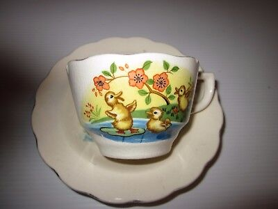 "Vintage ""SUPERIOR"" Nursery China Cup & Saucer(Made in Japan)"