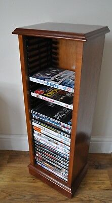 Yew Reproduction DVD open Cabinet holds 30