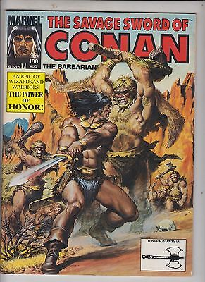 """SAVAGE SWORD OF CONAN #188 Marvel 1991 """"The Power of Honour""""  SEE COMBINED POST"""