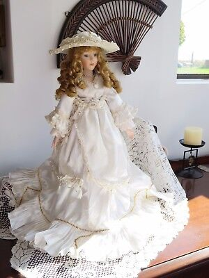 Beautiful '' Victorian Bride '' Porcelain Doll -