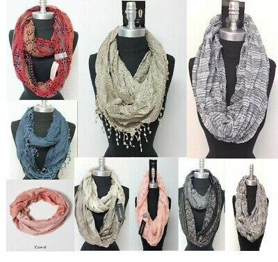 WHOLESALE Lot of 8PCS Infinity loop Scarf Circle wrap Fashion Scarves Soft #7