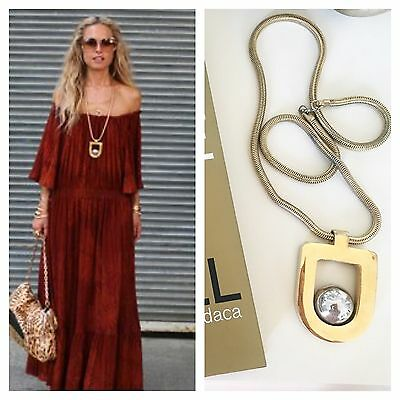 RARE!!!1970s VINTAGE**  LANVIN ** PENDANT STATEMENT NECKLACE SEEN ON RACHEL ZOE