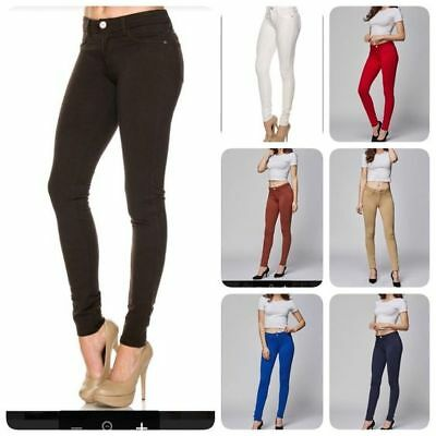 Womens Soft Solid Stretchy Moleton  French Terry Basic Jegging Skinny Pants