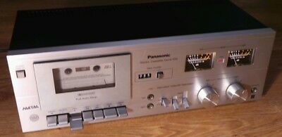 Vintage Panasonic RS-619 Stereo Cassette Tape Deck Player Recorder HiFi Separate