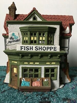 Dept 56 Dickens Heritage Village Collection The Mermaid Fish Shoppe