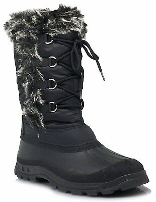 New Women Snow Boots Weather Proof Water Resistant Side Zipper Fur Lined Nice