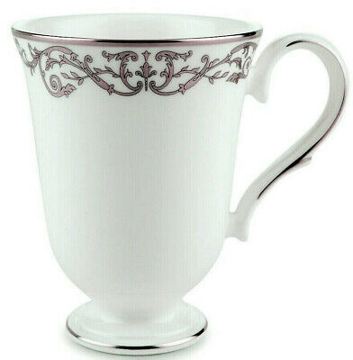 Lenox CORONET PLATINUM Accent Footed Mug Footed Made in USA New