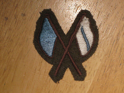 WW2 Canadian Army Trade Badge Trade Qualification Signaller