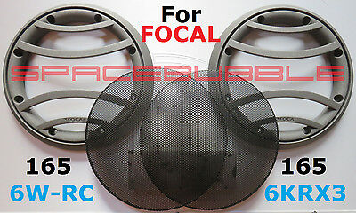 "NEW FOCAL 2x grilles grids grills 6.5"" Utopia 6-WRC 165 K2 Power 6-KRX3 woofer"
