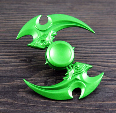 green Game Hand Spinner Tri Fidget Focus Toy EDC Finger Spin Gyro ADHD Autism #P