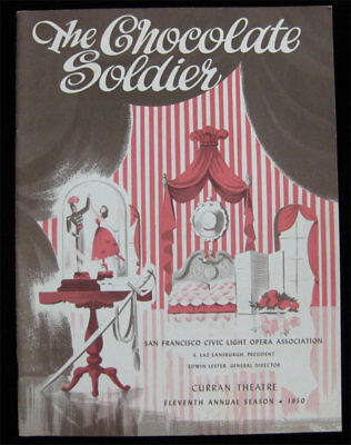 Chocolate Soldier VTG Theater Program Curran Theatre San Francisco 1950