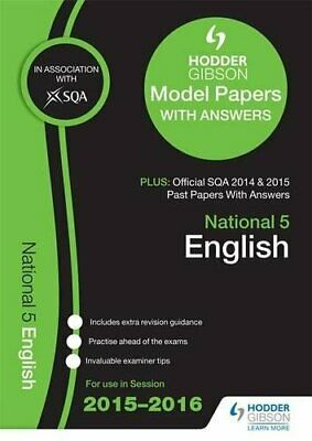 National 5 English 2015/16 SQA Past and Hodder Gibson Model Papers (Sq... by SQA