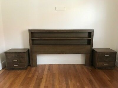 King Bedhead Bed + 2 Side Draws