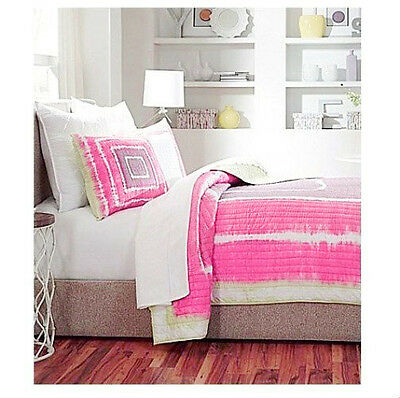 100% Cotton QUEEN QUILT SET STUDIO D Pink Purple FULL NWT MODERN CONTEMPORARY