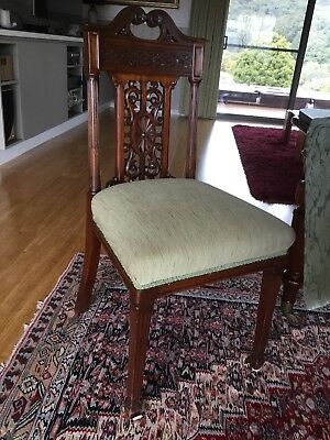 victorian set of eight dining chairs
