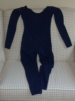 Bloch Womens Small Navy Blue Unitard Cotton Lycra