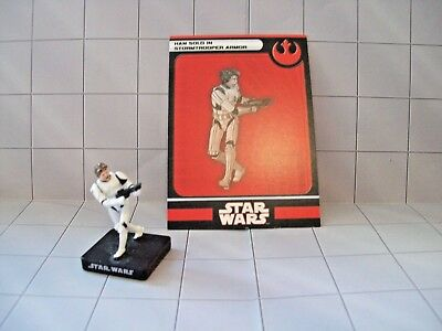 WotC Star Wars Miniatures Han Solo in Stormtrooper Armor, All &Emp 08/60, Reb, R